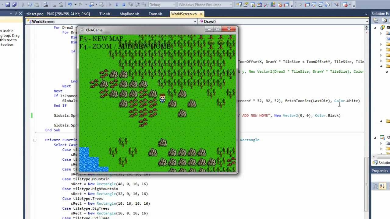XNA Project Update 7 - Random World Generator / Terrain Collision ...
