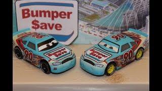Mattel Disney Cars 3 Ponchy Wipeout (Bumper Save #90) Piston Cup Racer Die-cast