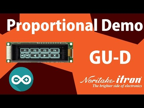 Noritake VFD: GU128X32D-D903S Proportional Demo using Arduino Uno