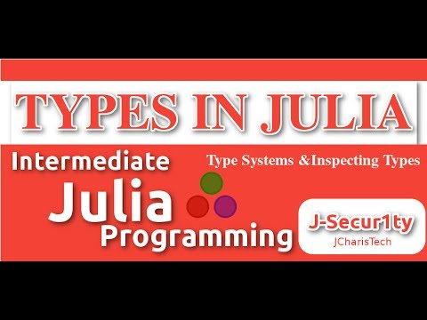 Types In Julia (Inspecting  Abstract and Concrete Types)