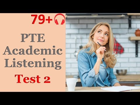PTE Listening Practice  series 2 test 1| Full Section Mock test | with answers