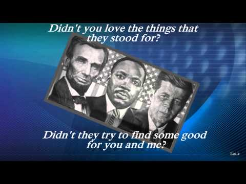 Abraham, Martin and John by Dion w /Lyrics (HD)