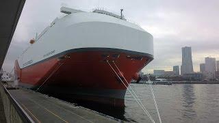 最大級のエコ自動車船、横浜港に/神奈川新聞(カナロコ)