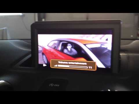 Audi A1 + AMI RCA Cable, Video IN demonstration, RMC MMI 2G 3G and 4G, Audi Music Interface