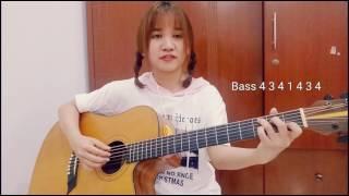 Chia sẻ một vài kiểu Rải và Quạt Ballad | Guitar | Phương Dung Socola