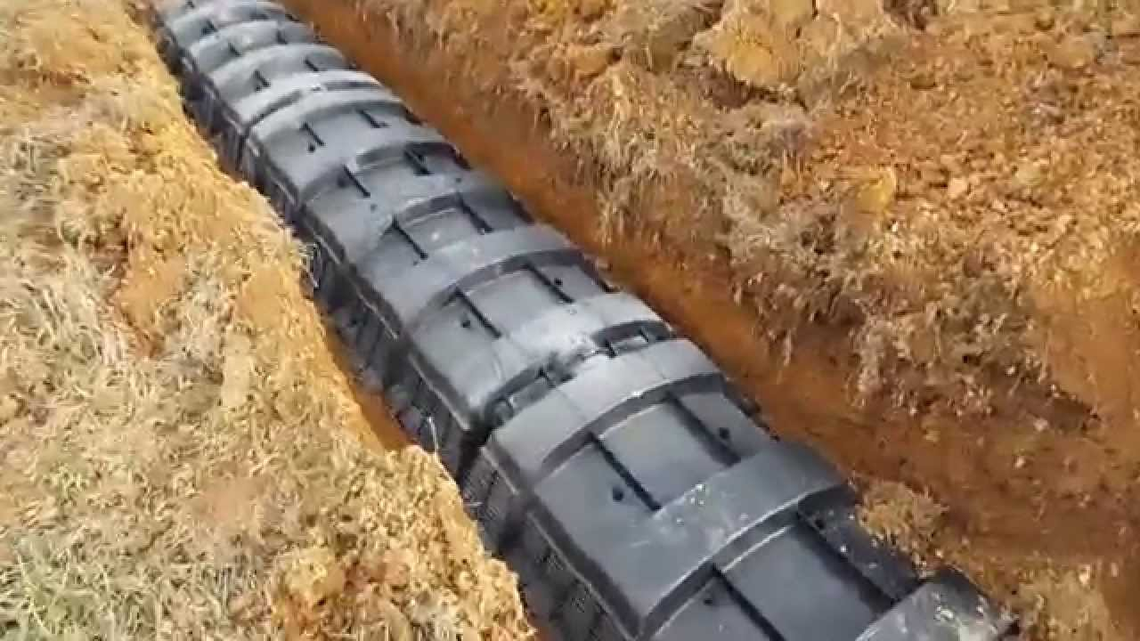 Waste Water Treatment System Drain Field Being Installed