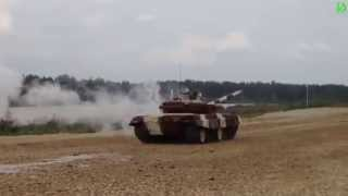 Tank racing: the first - ran out of track, the second - got water shock, the third - rolled over!