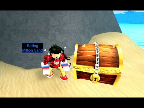 Selling a million sand treasure hunt simulator  ROBLOX