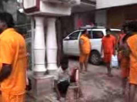bol bom baba baidhnath dham shrawani mela : omshivshiva kanwariya sangh raipur chattisgarh india