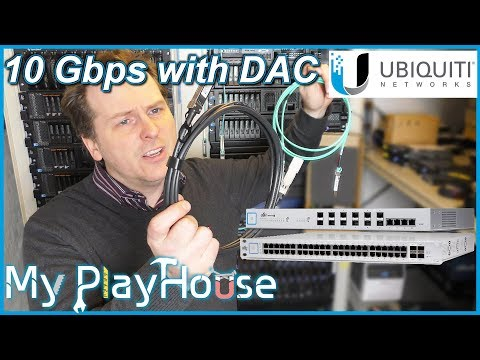 UniFi 48Port Switch Uplink with DAC Cable to UniFi 10Gb - 666