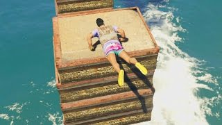 parkour extremo acuatico gameplay gta 5 online funny moments gta v ps4