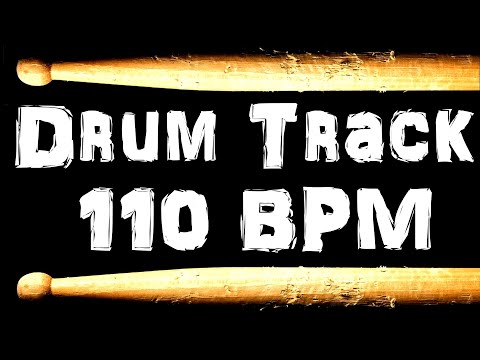 Drum Beat 110 BPM Rock Bass Guitar Backing Jam Track Free MP3 Download Loop #40