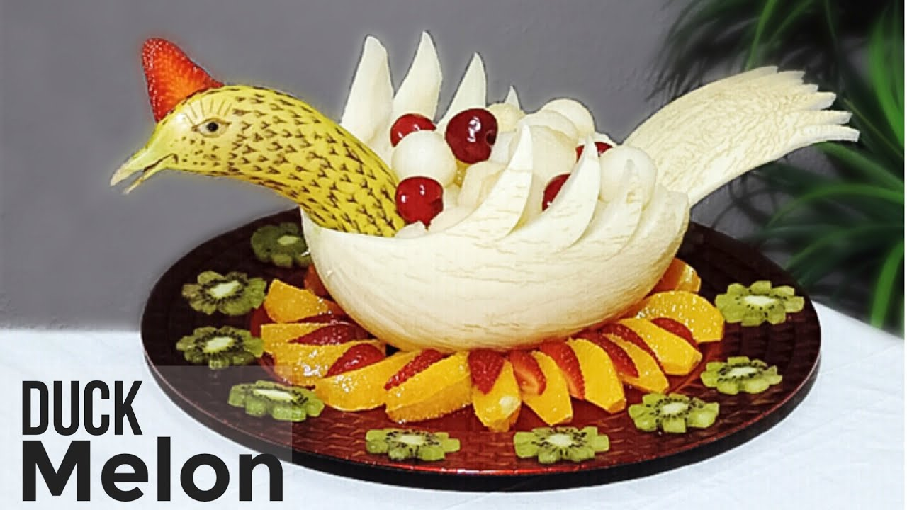 Carving With Melon And Banana By J Pereira Art Carving