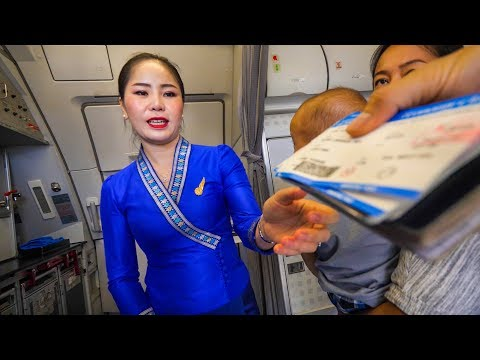 Lao Airlines REVIEW from Vientiane to Luang Prabang + Pre-Flight Noodles!
