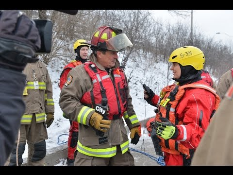 Toronto Fire Services: Ice Rescue Demo on Breakfast Television