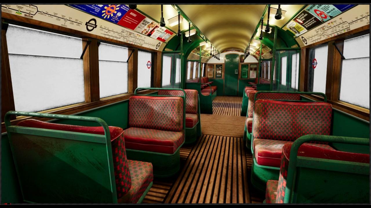 Old London Underground Train - Unreal Engine