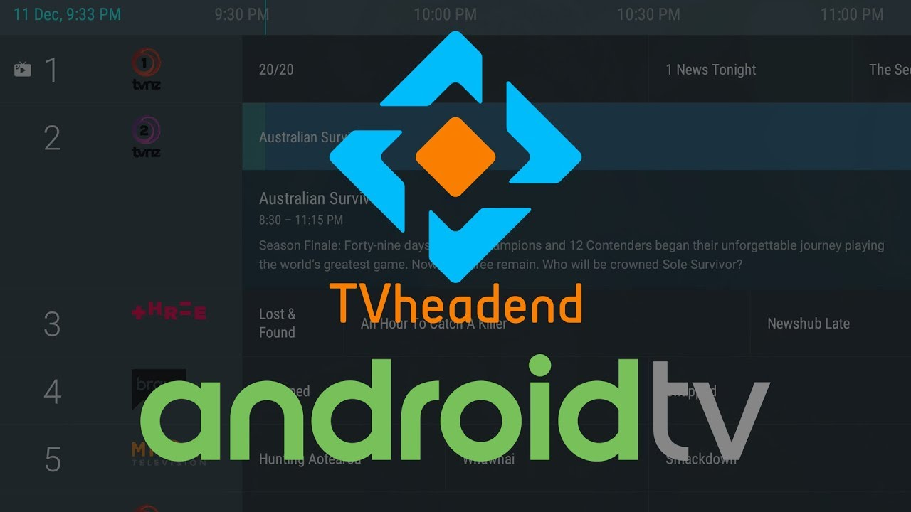 Tvheadend Live TV on Android TV