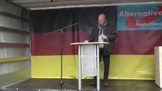 AfD-Demo Bielefeld: Andreas Kalbitz (05.11.2016)