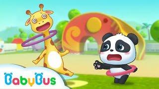 Baby Panda's Hula Hoop Match | BabyBus Sport Meeting | Top Songs & Animation | BabyBus