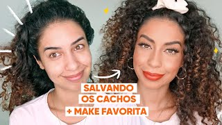 REVITALIZANDO OS CACHOS NO DAY AFTER + MAKE FAVORITA | ARRUME - SE COMIGO JULIANA LOUISE