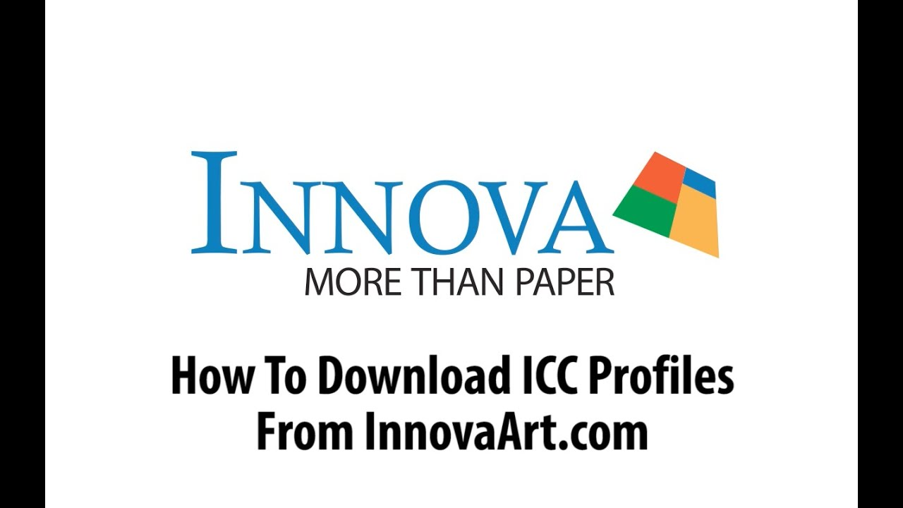 How To Download ICC Profiles From Innova Art
