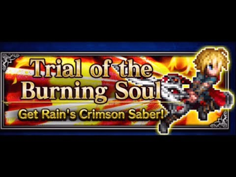 Trial of the Burning Soul for Rain's Set Equipment - Final Fantasy Brave Exvius FFBE