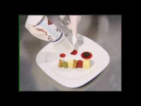 Decoraci n en plato peque o tren de frutas www - Decoracion de platos ...