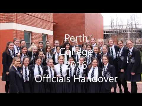 Perth College 2016 Officials Handover