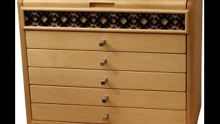 Latvian Handicraft Organizer/sewing Box/thread Chest