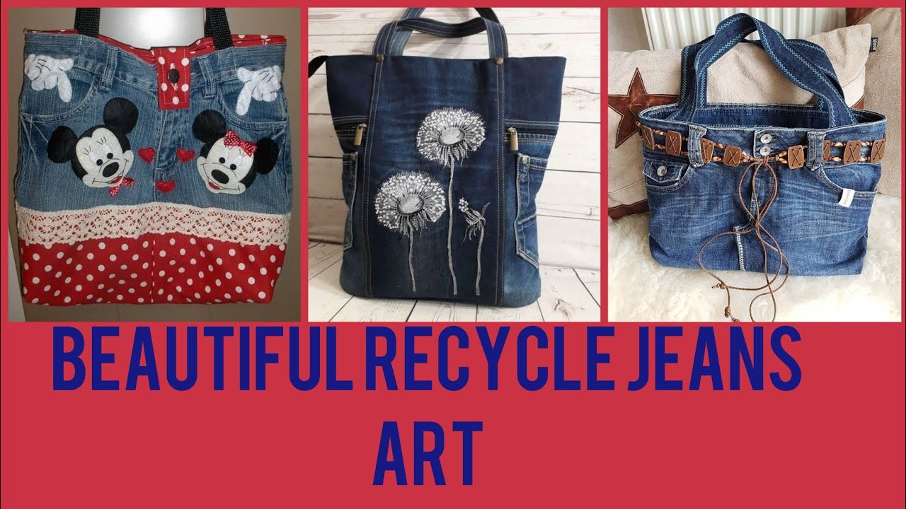 Beautiful Recycle Jeans Craft Ideas Old Jeans Convert To Beautiful Things