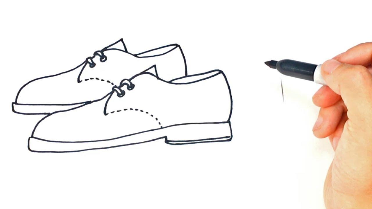 Cómo Dibujar Un Zapatos Paso A Paso Dibujo Fácil De Zapatos Youtube