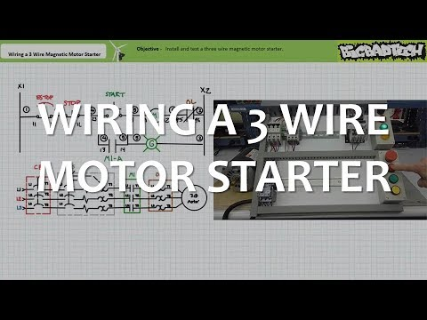 Wiring A Three Wire Magic Motor Starter Youtube. Wiring A Three Wire Magic Motor Starter. Wiring. Eaton P52899 Motor Starter Wiring Diagram At Scoala.co