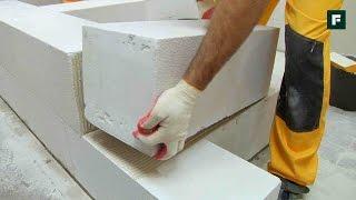 видео Стены из газобетонных блоков