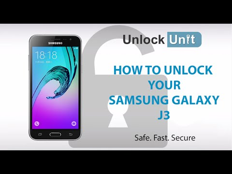 HOW TO UNLOCK Samsung Galaxy J3