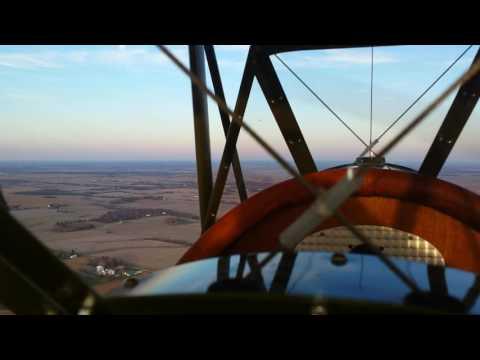 Corvair powered Pietenpol flight