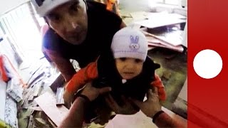 Dramatic POV video shows rescue operation in flooded village in Romania
