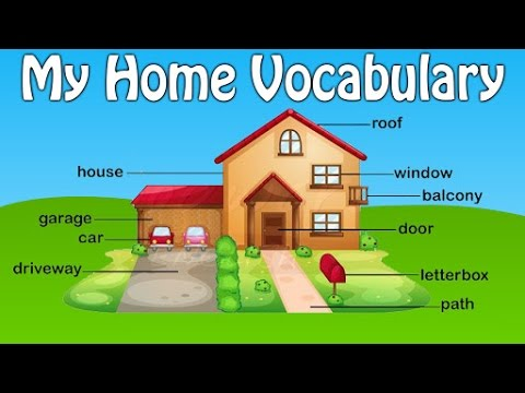 My home vocabulary house vocabulary for kids preschool for My home pic