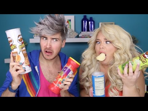 TASTING WEIRD PRINGLES FLAVORS! with JOEY GRACEFFA