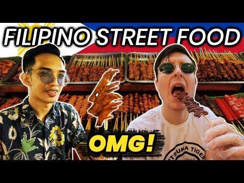 Filipino Street Food is CRAZY! Trying ISAW, BETAMAX, PUSO, ADIDAS!