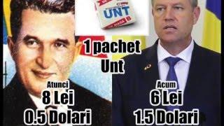 Preturi de pe vremea lui Ceausescu si Acum