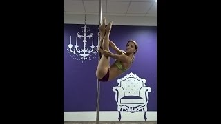 Pole dance tutorial.  Уроки танцев. Элемент