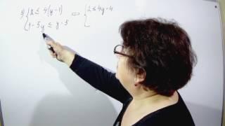 Решение систем линейных неравенств