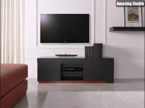 Exklusive Tv Möbel Weiße Wand Dahinter Sehr Schön Aussehen