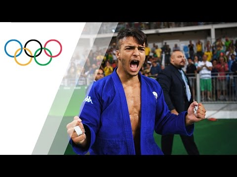 Italy's Basile upsets Number One Title Holder in Men's Judo 66kg