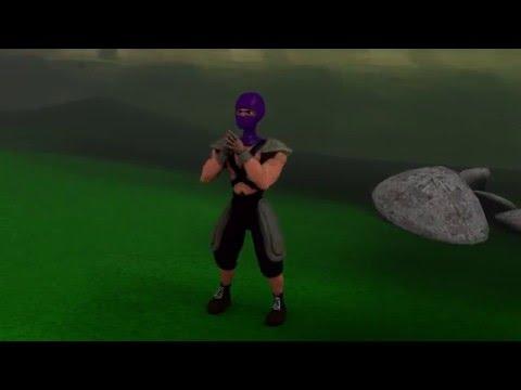 Ninja Gasy Animation cene 1 blender 3D 2.76 [By Taolarakotondrahery]