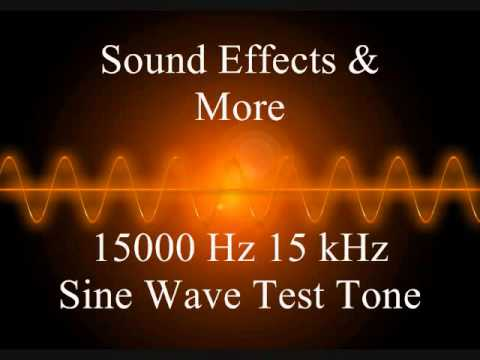 15000 Hz 15 kHz Sine wave test tone - 5 Minutes