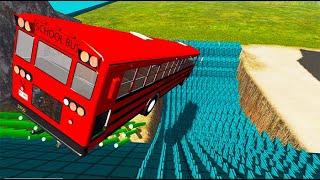 BeamNG drive - School Bus Crashes & Jumps #60 | BeamNG-Destruction