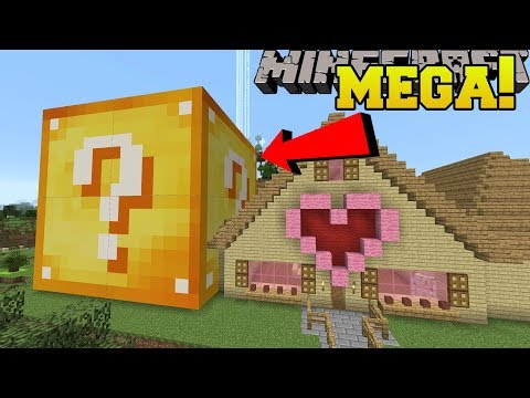 Minecraft: MEGA LUCKY BLOCK!! (LUCKY BLOCK BIGGER THAN A HOUSE!)