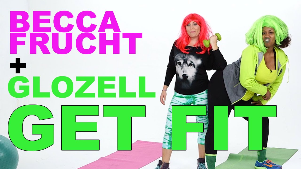 Becca Frucht and GloZell Get Fit in the New Year
