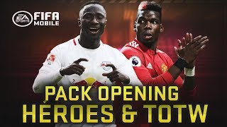 PACK OPENING HROES DE EQUIPO TOTW FIFA MOBILE